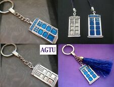 PICK YOUR TARDIS Mobile Phone Lanyard Keyring Police Box Doctor Dr Who Charm
