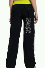 NWT Simply Shine Hot BLACK & LIME GREEN ZUMBA Branded Cargo Pants Sz L, XL SALE