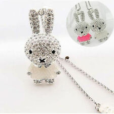 Women Cute Enamel Crystal Rhinestone Rabbit Chain Pendant Necklace Jewelry Gift