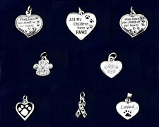 Silver & Crystal Pet Dog Cat Lover's Charms Paw Heart - SALE BENEFITS RESCUE