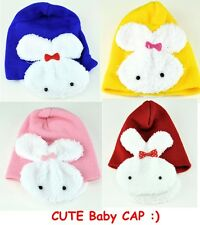 New Baby Infant Toddler Cap Cute Two-Side Rabbit Soft Hats Look Cute Beanie