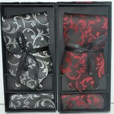 100% Silk New Men tie set Necktie+Cufflinks+Hanky with matching gift box !