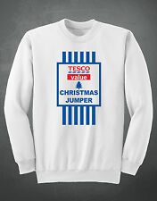 Tesco Value Christmas Jumper X-mas Sweatshirt (Funny, Comedy, Quality Item)