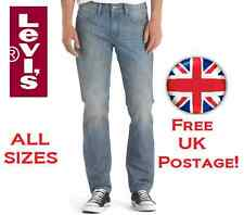 NEW Levi's 511 Skinny Slim Fit ALL SIZES Men's Light Blue Faded Jeans