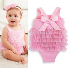 New Cute Newborn Infant Baby Girl Clothes Lace Ruffle Romper Baby Clothes FT178
