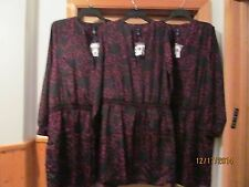 Long Sleeve Dresses GAP size 2XL,XL,LG Multi Purple Black Color NWT