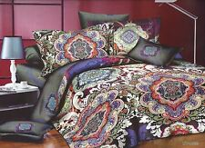 3 Pcs Luxury Microfiber Printed Bedspread Coverlet Quilt Set Queen Size 14099