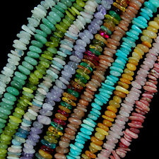 """3-5x9-13mm Natural Gemstone Disc Spacer Freeform Beads for Jewelry Making 7.5"""""""