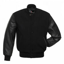New Varsity Wool Letterman Jacket Real Leather Sleeves size