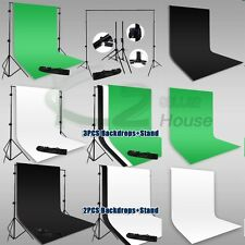 10x12Ft Photography Muslin Backdrop Heavy Duty Background Support Stand w/ Bag