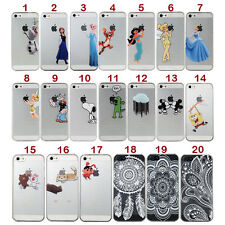 Transparent Cartoon PC hard  back Case Cover Skin For iPhone 4 4s 5 6 6 plus