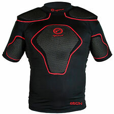 Optimum Origin Rugby Body Protection Top - Black / Red