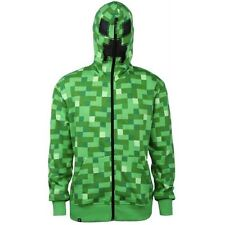 Minecraft Creeper Hoodie Sweatshirt Costume with Zipped Face Mask Youth XS-XL