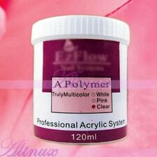 120g Acrylic Powder Polymer Builder Nail Art Tips Sets Clear Pink White Colors