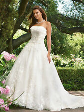 New 2014 white/ivory wedding dress  size  6-16