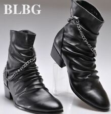 Fashion Mens high top casual punk rock pointed toe zipper short ankle boots
