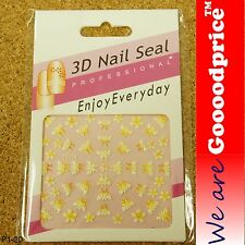 3D Nail Art Seal Beautiful Flowers Nail/Toe Stickers Pack Party&Ladies Gift 1-20