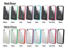 Acryl Clear Back Case with Colored Soft Silicone TPU Bumper  for iPhone 5 5S