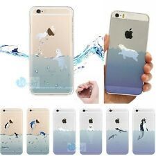 0.3mm ULTRA THIN Japan Ocean Rubber Soft Cover Skin Case For iPhone 5s 6 6 PLUS