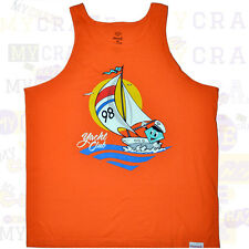 DIAMOND SUPPLY Yacht Club Urban Orange Singlet Tank Top Size XXL 2XL NEW