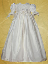 Cassiani Couture Abigail 100% Silk Embroidered Baptism Dress Christening Gown