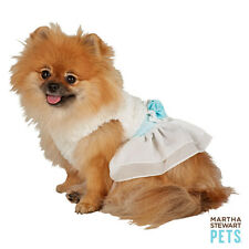 Dog Martha Stewart Pets Holiday White Blue Snow Dress Small Medium Large