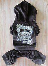 CUTE~ Cocoa Brown ~ dog jumpsuit pet clothes size S M L XL for SMALL dog ONLY