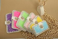 Bling Stand Magnetic PU Leather Slot Flip Wallet Case Cover F Vary Sony Phones