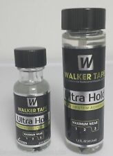 Walker Ultra Hold Adhesive Glue w/ brush .5oz, & 1.4 oz Hairpiece Lace Wig Glue