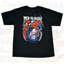 SPIDERMAN Marvel Web Slinger Black Boys Kids Youth T-Shirt Size XL 14-16