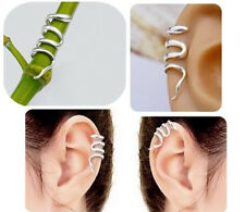2PC Stylish Punk Gothic Unique Snake Shape Cuff Wrap Ear Clip Earrings   XICA