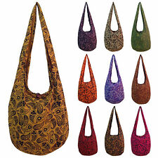 Graphic Print Hippy Hippie Festival School Shoulder Sling Bag LARGE Many Colors