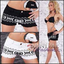 NEW SEXY WOMENS JEANS SHORTS LADIES short jean pants MINI PRINT DENIM HOTPANTS