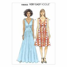 Very Easy to Make Vogue 9053 Flared Dress Maxi Summer Sun Sewing Pattern V9053