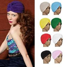 Women's Turban Head Wrap Headband Hair Band Candy Color Stretchable Yoga Cap