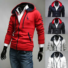 Mens Slim Fit Sexy Top Open Line Designed Hoodies Jackets Coats