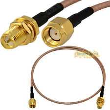 RP-SMA Female Nut  to RP SMA Male Coaxial Pigtail Cable RG316 10/30/50cm / 1/3m