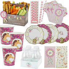 Pony Party Horse Party Girls Birthday Party Tableware, Plates, Cups, Napkins