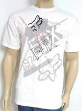 Fox Racing Relentless Graphic Tee Mens White Crew 100% Cotton T-Shirt New NWT
