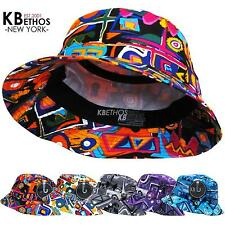 Bucket Hat Boonie Aztec Hunting Fishing Outdoor Cap Unisex 100% Cotton NEW