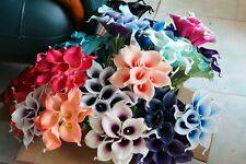 10 Real Touch Calla Lilies Latex Calla Lily For Bridal Bouquet Various Colors