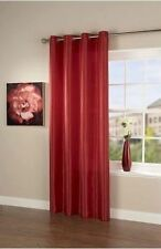 """NEW RED FAUX SILK SINGLE CURTAIN PANEL 66"""" X 90"""" WITH STEEL RING TOP EYELET"""
