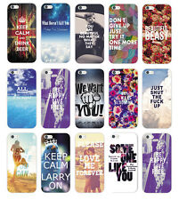 New Various Pattern Quote & Saying Hard Back Case Cover For Apple iPhone 5 5S