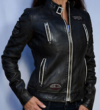 Affliction Black Premium - DIVERGENT - Women's Biker Leather Jacket - NEW Black