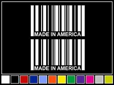 """(2) 4.25"""" MADE IN AMERICA Barcode Decals *14 COLORS* Stickers USA"""