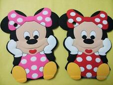 Hot sales 3D cartoon Minnie Mouse Silicone back cover for iPad Air 234 Mini case