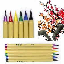 XDT 1 6 Coloring Whate Brush Pen Set Art Painting Calligraphy Chinese Japanese