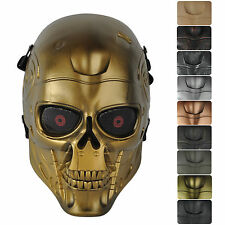 Hot Skull Eye Mesh Tactical Military Full Face Mask for Hunting CS Airsoft Game