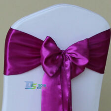 Colorful Satin Chair Cover Sash Bow Wedding Party Tie Ribbon Decor 1/10 Pcs HOT
