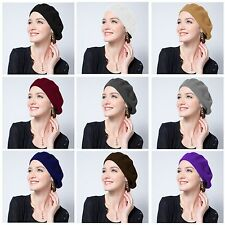 Promotion-Girl Women Beret Hat Sweet Solid Warm Wool Beret French Beanie Ski Hat